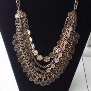 "Super Cute 22"" Multi Layered Medallion Necklace."